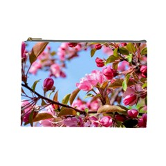 Crab Apple Blossoms Cosmetic Bag (large)