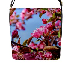 Crab Apple Blossoms Flap Messenger Bag (l)  by FunnyCow