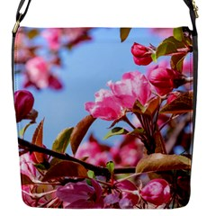 Crab Apple Blossoms Flap Messenger Bag (s) by FunnyCow