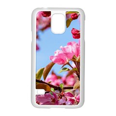 Crab Apple Blossoms Samsung Galaxy S5 Case (white) by FunnyCow