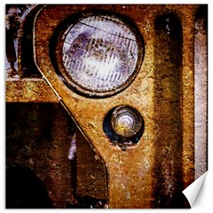 Vintage Off Roader Car Headlight Canvas 16  X 16   by FunnyCow