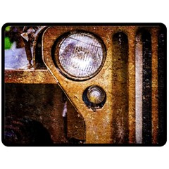 Vintage Off Roader Car Headlight Double Sided Fleece Blanket (large)  by FunnyCow