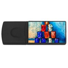 Soup Cans   After The Lunch Rectangular Usb Flash Drive by FunnyCow