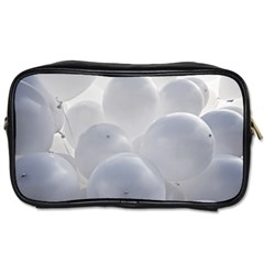 White Toy Balloons Toiletries Bags 2 Side by FunnyCow