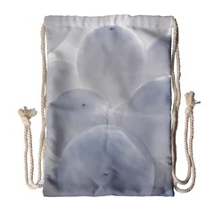 White Toy Balloons Drawstring Bag (large)