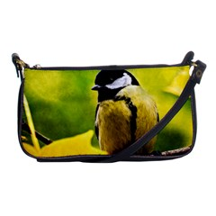 Tomtit Bird Dressed To The Season Shoulder Clutch Bags by FunnyCow