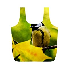 Tomtit Bird Dressed To The Season Full Print Recycle Bags (m)