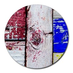 Abstract Art Of Grunge Wood Round Mousepads