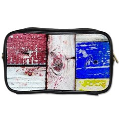 Abstract Art Of Grunge Wood Toiletries Bags by FunnyCow