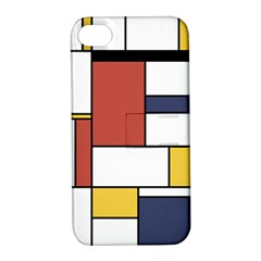 Neoplasticism Style Art Apple Iphone 4/4s Hardshell Case With Stand by FunnyCow