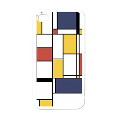 De Stijl Abstract Art Apple Iphone 4 Case (white) by FunnyCow