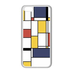De Stijl Abstract Art Apple Iphone 5c Seamless Case (white) by FunnyCow