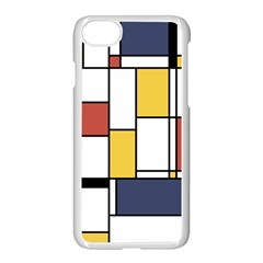 De Stijl Abstract Art Apple Iphone 8 Seamless Case (white) by FunnyCow
