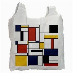 Abstract Art Of Avant Garde Recycle Bag (one Side)