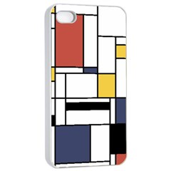 Abstract Art Of Avant Garde Apple Iphone 4/4s Seamless Case (white) by FunnyCow