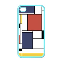 Neoplasticism Abstract Art Apple Iphone 4 Case (color) by FunnyCow