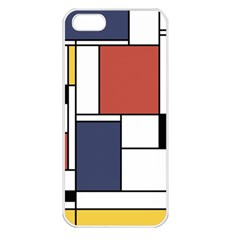 Neoplasticism Abstract Art Apple Iphone 5 Seamless Case (white) by FunnyCow
