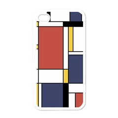 Abstract Art Of De Stijl Apple Iphone 4 Case (white) by FunnyCow