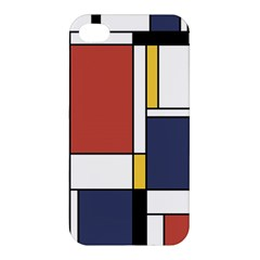Abstract Art Of De Stijl Apple Iphone 4/4s Hardshell Case by FunnyCow