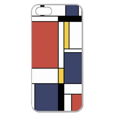 Abstract Art Of De Stijl Apple Seamless Iphone 5 Case (clear)