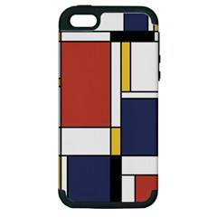 Abstract Art Of De Stijl Apple Iphone 5 Hardshell Case (pc+silicone) by FunnyCow
