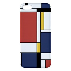 Abstract Art Of De Stijl Apple Iphone 5 Premium Hardshell Case by FunnyCow
