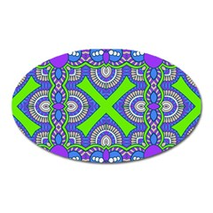 Purple Green Shapes                                        Magnet (oval)