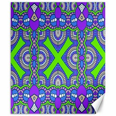 Purple Green Shapes                                        Canvas 20  X 24