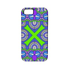 Purple Green Shapes                                  Apple Iphone 4/4s Hardshell Case (pc+silicone)