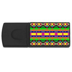 Distorted Colorful Shapes And Stripes                                         Usb Flash Drive Rectangular (4 Gb)