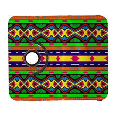 Distorted Colorful Shapes And Stripes                                   Samsung Galaxy Note Ii Flip 360 Case by LalyLauraFLM