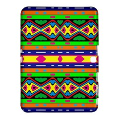 Distorted Colorful Shapes And Stripes                                   Samsung Galaxy Tab 4 (10 1 ) Hardshell Case by LalyLauraFLM