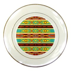 Ovals Rhombus And Squares                                          Porcelain Plate
