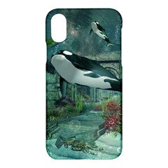 Wonderful Orca In Deep Underwater World Apple Iphone X Hardshell Case by FantasyWorld7
