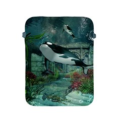Wonderful Orca In Deep Underwater World Apple Ipad 2/3/4 Protective Soft Cases