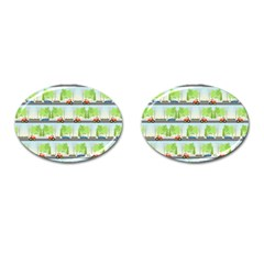 Cars And Trees Pattern Cufflinks (oval) by linceazul