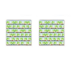 Cars And Trees Pattern Cufflinks (square)