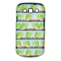 Cars And Trees Pattern Samsung Galaxy S Iii Classic Hardshell Case (pc+silicone)