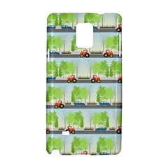 Cars And Trees Pattern Samsung Galaxy Note 4 Hardshell Case