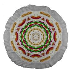 Fauna In Bohemian Midsummer Style Large 18  Premium Flano Round Cushions