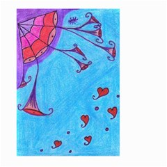 Hearts And Blue Large Garden Flag (two Sides)