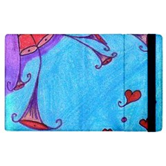 Hearts And Blue Apple Ipad 2 Flip Case