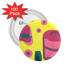 Candy Pink Hat 2 25  Buttons (100 Pack)