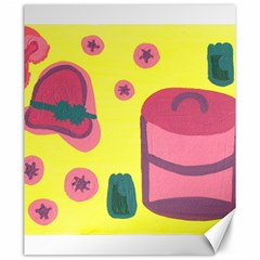 Candy Pink Hat Canvas 20  X 24