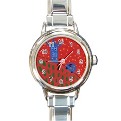 Almost Home Round Italian Charm Watch