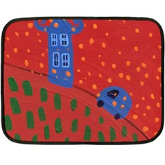 Almost Home Double Sided Fleece Blanket (mini)