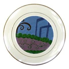 Purple Shoe Porcelain Plates