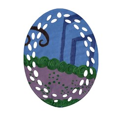 Purple Shoe Ornament (oval Filigree)