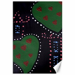 Christmas Hearts Canvas 12  X 18