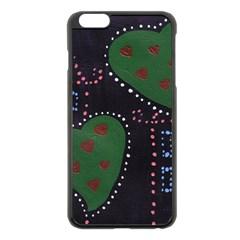 Christmas Hearts Apple Iphone 6 Plus/6s Plus Black Enamel Case by snowwhitegirl